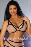 158 tall, Turkish 34D bust size escort